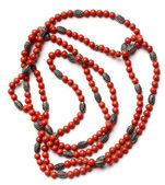 Indian retro necklaces from red coral — Stock Photo