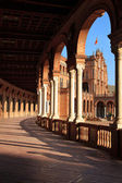 Palace arcade on the Spain`s Square — Stock Photo