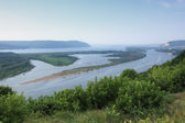 Volga`s landscape — Stock Photo