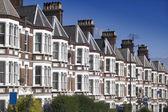Casas típicas de inglês. — Foto Stock