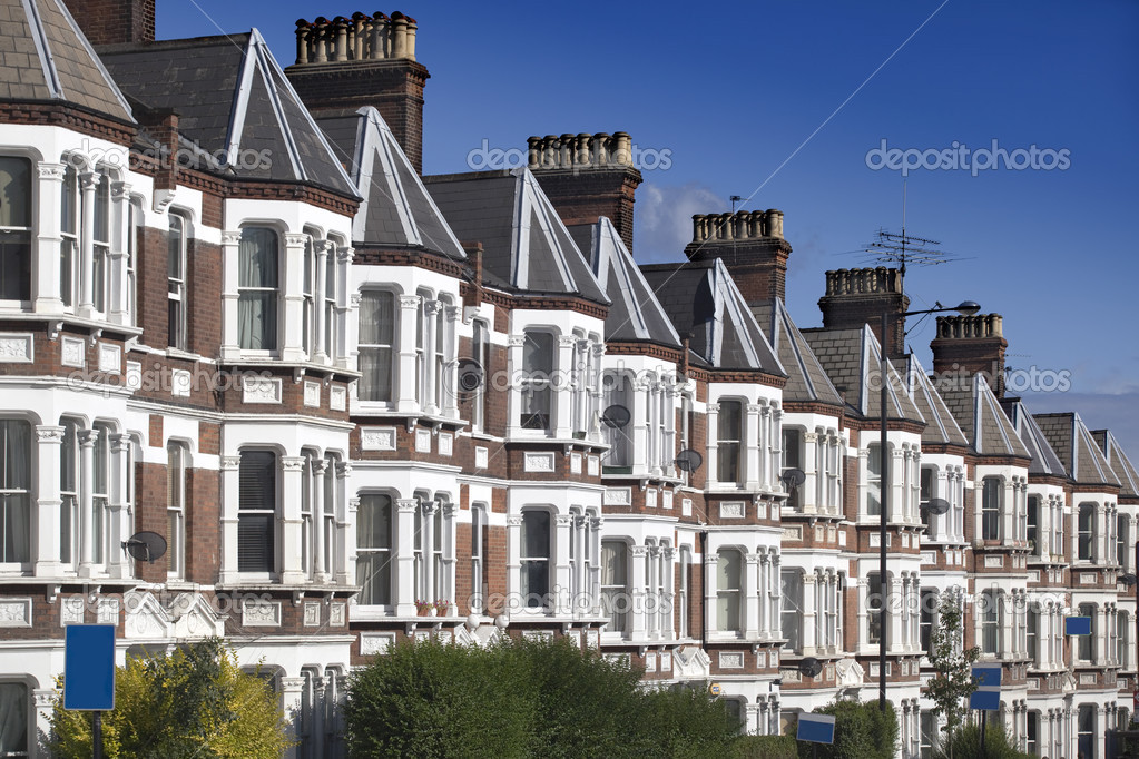 Typical English Houses at London.   Stock Photo #3738111