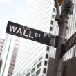 Wall Street in New York - Stock Photo