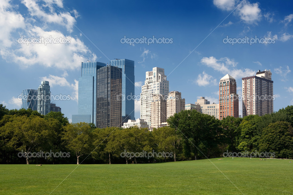 Midtown buildings from Central Park — Stock Photo #3811305