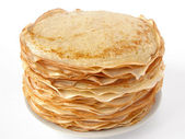 Russian traditional pancakes — Stock Photo