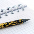 Stock Photo: Pencil and notebook 1