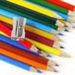 Pencils and sharpener — Stockfoto