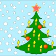 Kerstboom — Stockvector #3503819