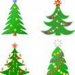Christmas trees — Image vectorielle