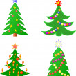 Royalty-Free Stock Vectorafbeeldingen: Christmas trees
