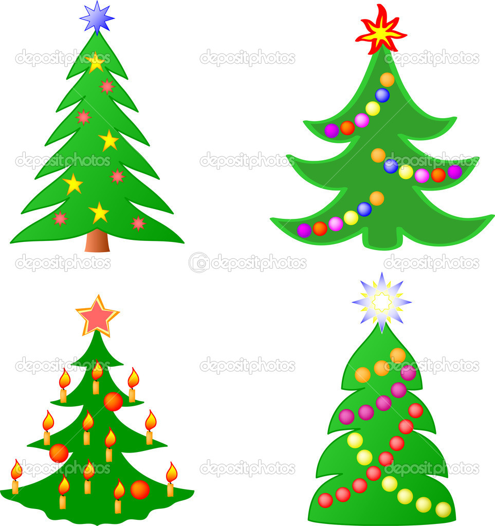 Christmas trees collection  Stock Vector #3569446