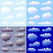 Stock Vector: Clouds collection