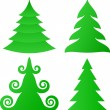 Christmas trees collection - Stock Vector