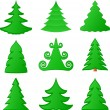 Christmas trees collection — Stock Vector #3761737