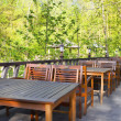 Outdoor cafe — Foto Stock
