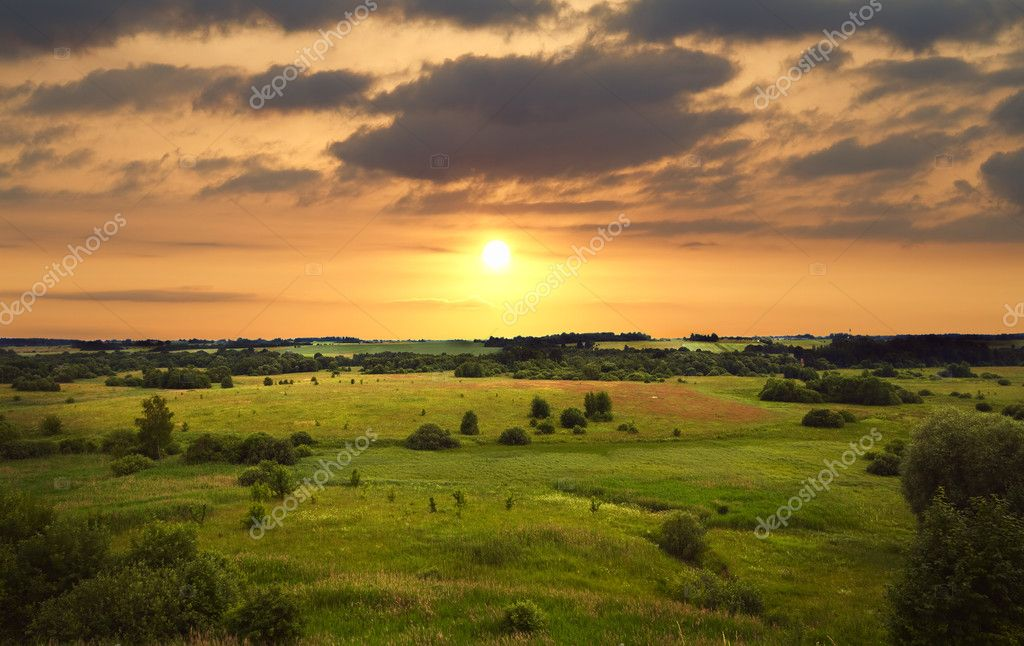 Sunset landscape — Stock Photo #3542069