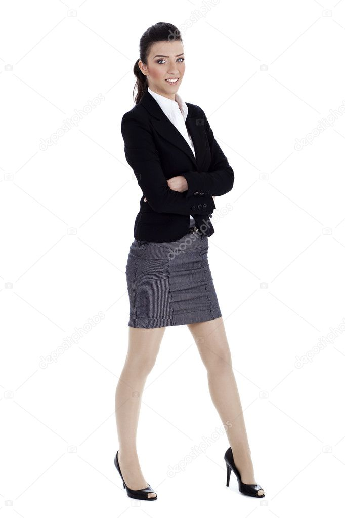 Young business woman in costume u2014 Stock Photo u00a9 get4net #2805898