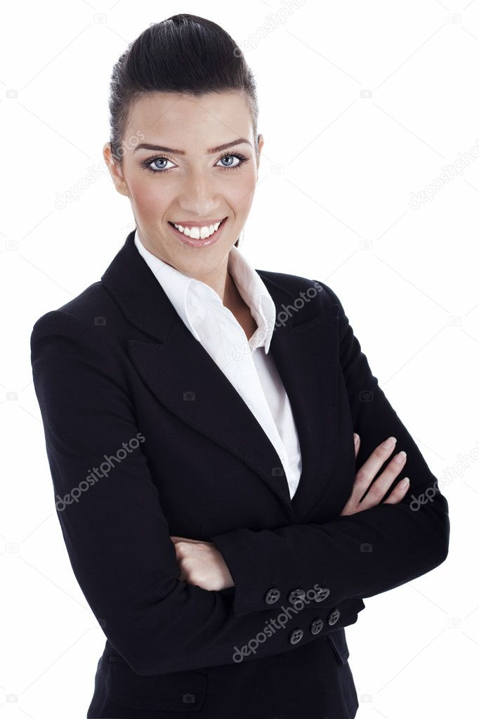 Closeup smile of young professional over white background — Stock Photo #2805984