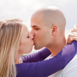 Beautiful picture of kissing couple — Stock Photo #2841331