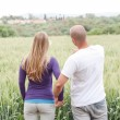 Rear view of young couple — Stock Photo