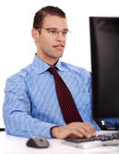Business man working on his office — Stock Photo