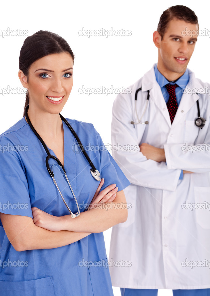 Happy medical staff standing — Stockfoto #2998495