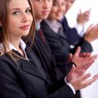 Stock Photo: Group of business clapping