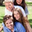 Group of Young couples enjoying — Stock Photo