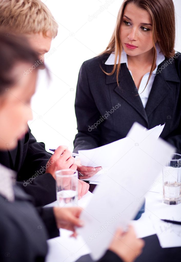 Group of Business in a meeting — Stock Photo #3031551