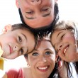 Closeup portrait of a happy family — Stock Photo #3040816