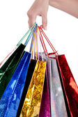 Shoppers colorate holding — Foto Stock