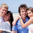 Romantic couples enjoying vacation — Stock Photo