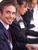 Closeup of attractive business men — Stock Photo
