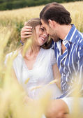 An attractive couple sharing passionate — Foto de Stock