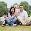 Portrait of happy family of five — Stock Photo #3136451