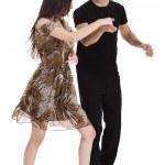 pár spolu tančí — Stock fotografie
