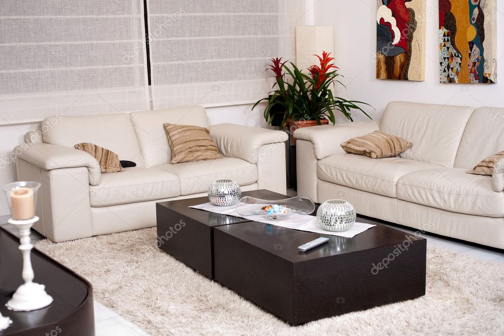 Modern living room with modern furniture — Stock Photo #3190834