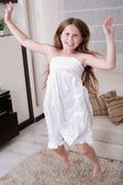 Young little girl jumping — Stock Photo