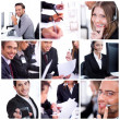 Foto Stock: Group of business men and women