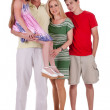Full length of happy family looking at you — Stock Photo #3309218