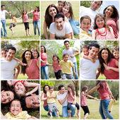 Happy family enjoying in the park — Stock Photo