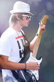 Guitarist solo — Stock Photo