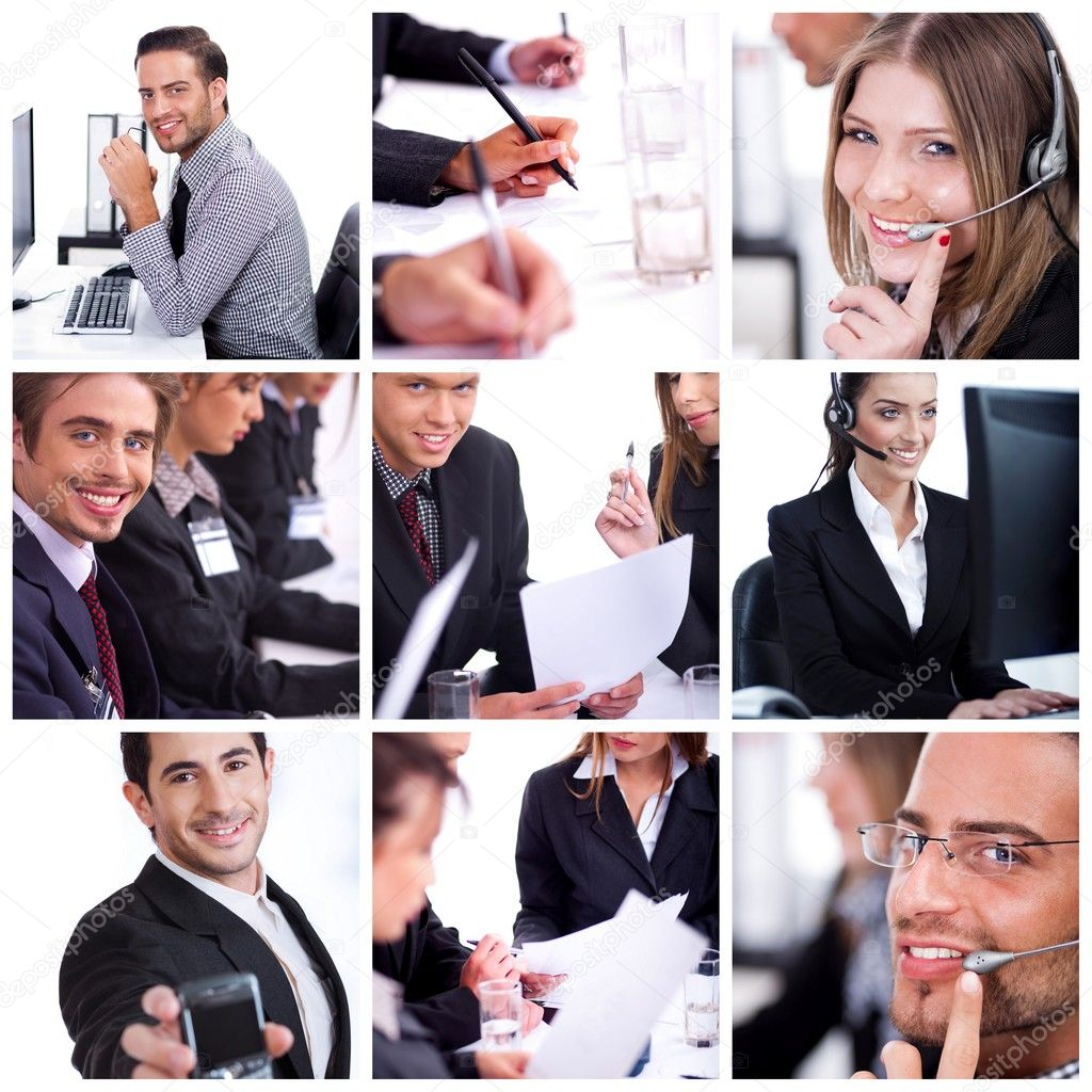 Group of business professional at their work in office  Stockfoto #3309104