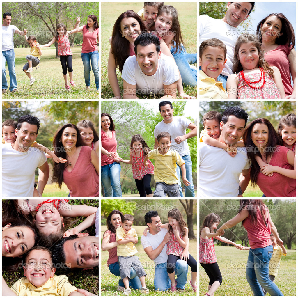 Happy family enjoying in the park,outdoor — Foto Stock #3309122