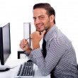 Young business man at the office — Stock Photo