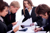 Group of business at work — Stock Photo