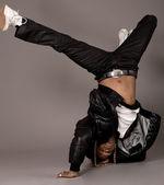 African american doing break dance — Stock Photo