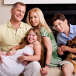 Stock Photo: Lovable family of five