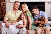 Adorable famille de cinq — Photo