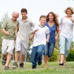 Happy family enjoying outdoors — Stock Photo