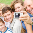 Portrait of extended family - Stock Photo